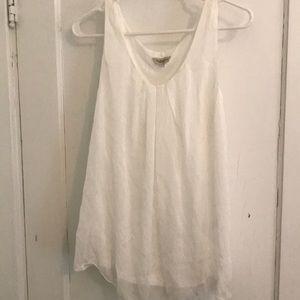 Via Signoria white tank top flowy silk size small